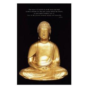 仏陀の仏像ポスター
