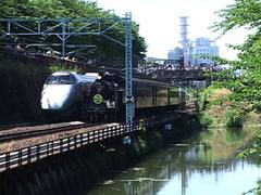 SLと新幹線の併走運転